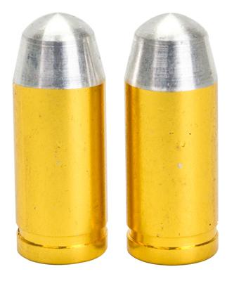 Valve Stem Caps; Trik Topz Bullet, Gold