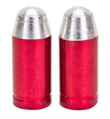 Valve Stem Caps; Trik Topz Bullet, Red