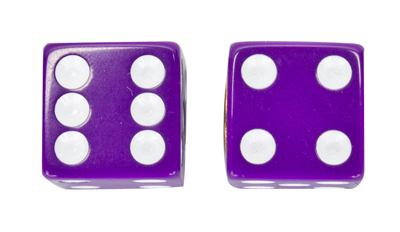 Valve Stem Caps; Trik Topz Dice, Purple