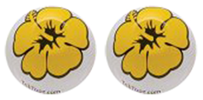 Valve Stem Caps; Trik Topz Flowers, Yellow