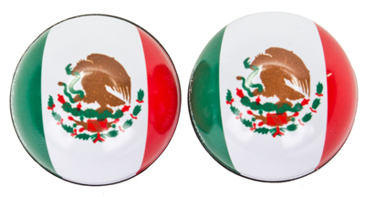 Valve Stem Caps; Trik Topz Mexico Flag