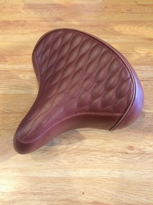 Quilted Beach Cruiser Saddle, Brown