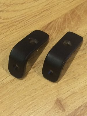 Taillight Brackets; 90-degree mounting bracket, Black