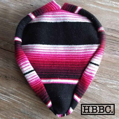 Seat Covers; Authentic Mexican Blanket, Pink and Black