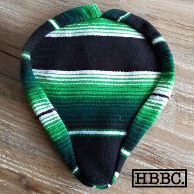 Seat Covers; Authentic Mexican Blanket, Green and Black