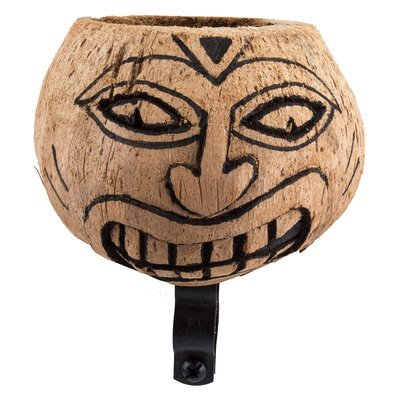 Cupholders; Cruiser Candy Carved Face No-Paint Coconut Cup