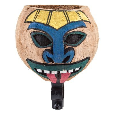 Cupholders; Cruiser Candy Carved Face w/Paint Coconut Cup