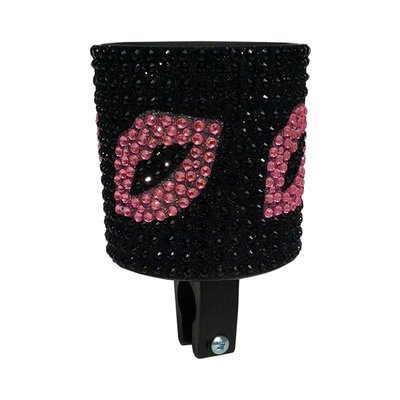 Cupholders; Cruiser Candy Bejazzled Cupholder, Lipstick Kisses