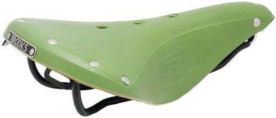 Brooks B17 Standard Saddle Apple Green, w/ Black Rail
