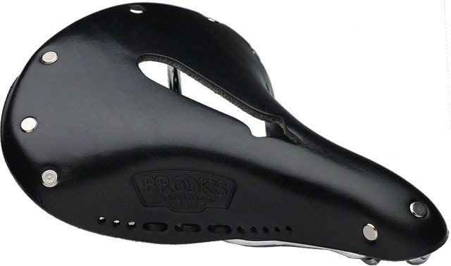 Brooks B17 Womens Imperial Saddle Black, w/ Chrome Rail