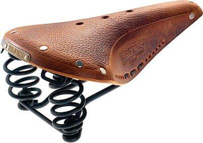 Brooks Flyer Men's Saddle; Aged Tan w/ Black Steel Rails