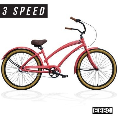 HBBC Skull X Bones Women's 3-speed Coral - CALL FOR PRICING