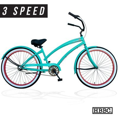 HBBC Skull X Bones Women's Mint/Coral 3-speed - CALL FOR PRICING