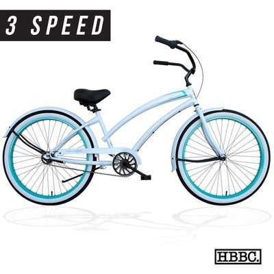 HBBC Skull X Bones Women's Rover White/Mint 3-speed - CALL FOR PRICING