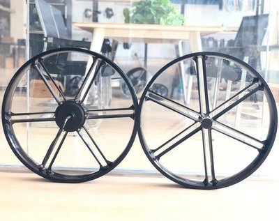 26 x 80mm Electric Hub Wheel Set, Rear Drive Motor