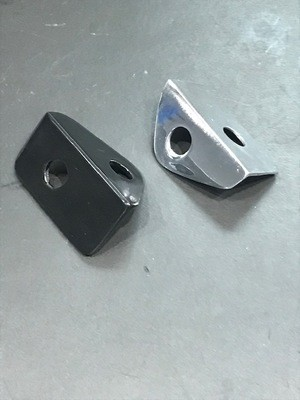 Taillight Brackets; 90-degree mounting bracket, Chrome or Black