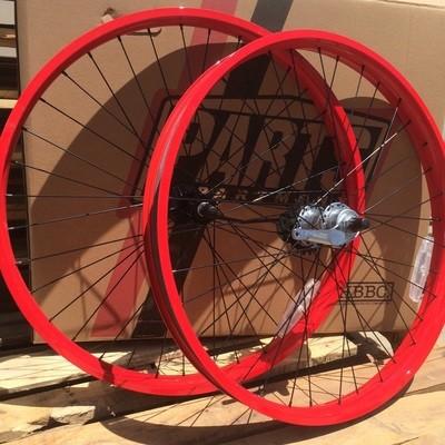 HBBC 50mm Three Speed Wheel Set, Red