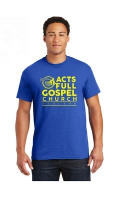 Blue and Yellow Acts Shirts