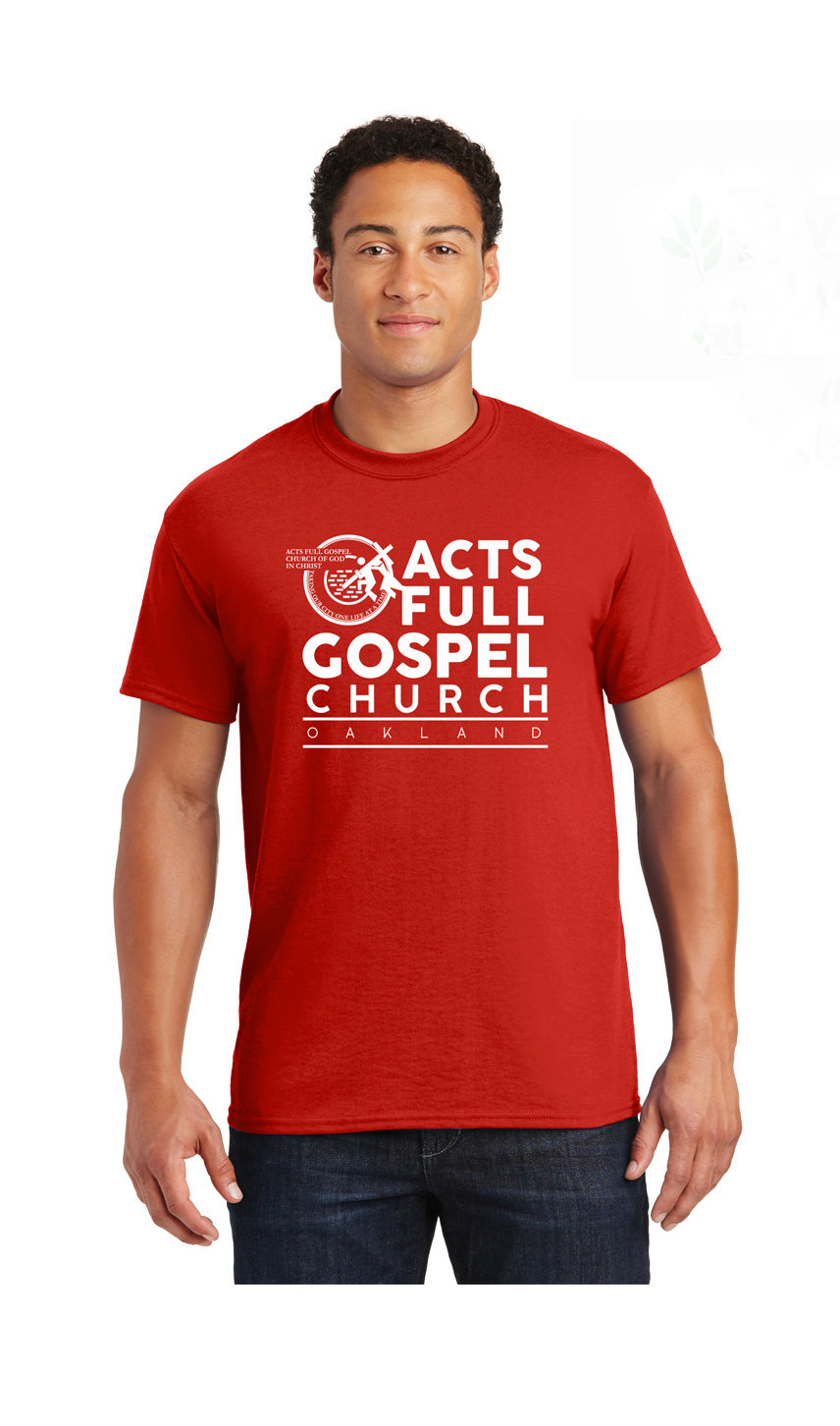 Red and White Acts Shirt
