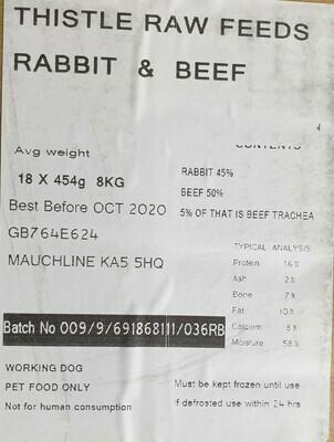 Thistle Raw Feeds Rabbit & Beef