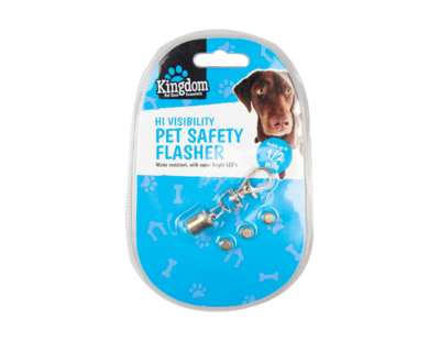 Hi Visibility Flashing LED Collar Tag