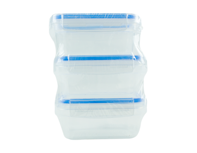 Clip Lock Containers (Pack of 3)