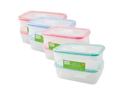 Clip Lock Containers (2 x 450ml)