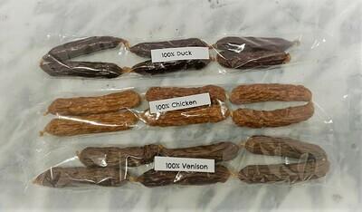 100% Venison Sausage Treats (6)