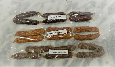 100% Duck Sausage Treats (6)