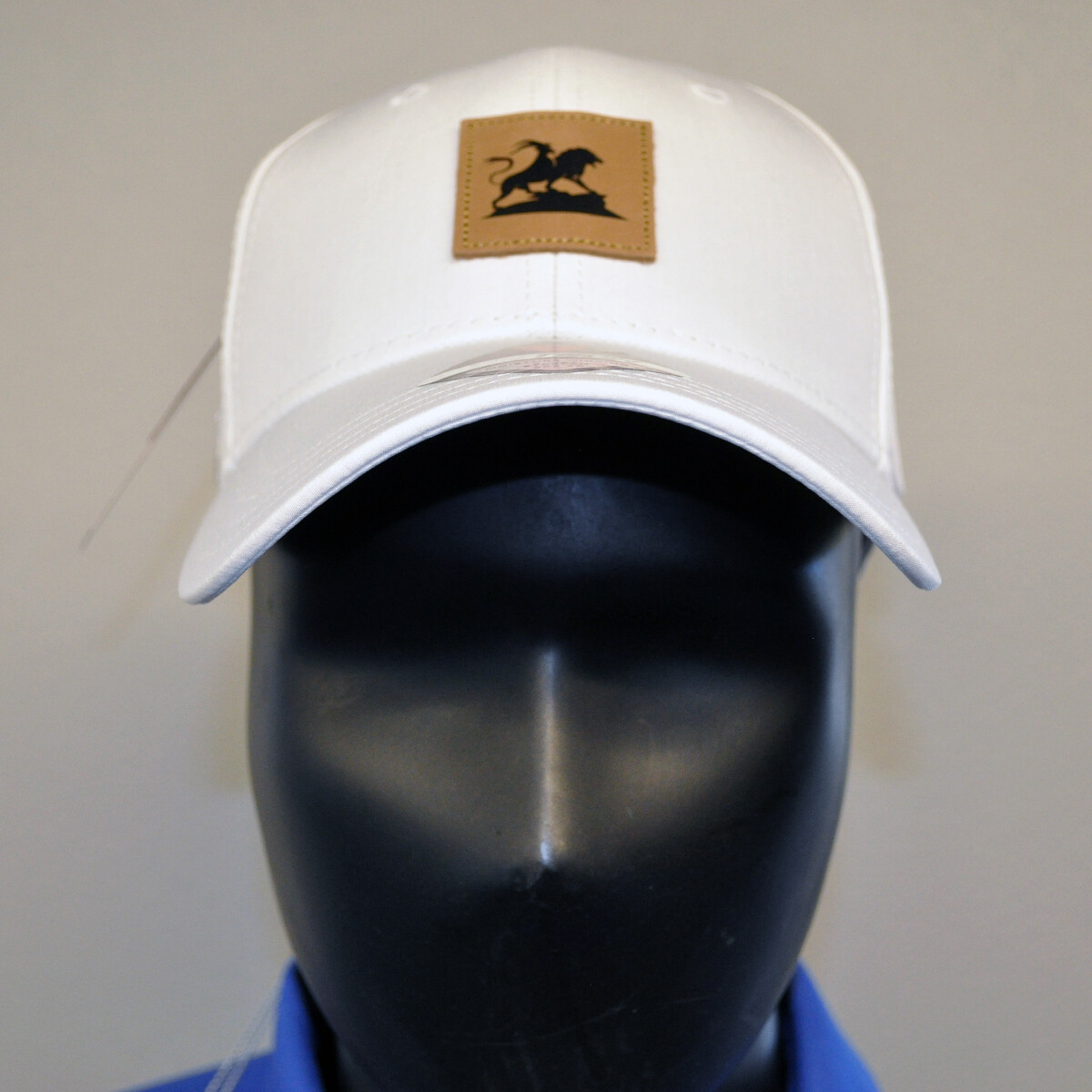 Men's Golf Hat - OSFA White/Leather Patch
