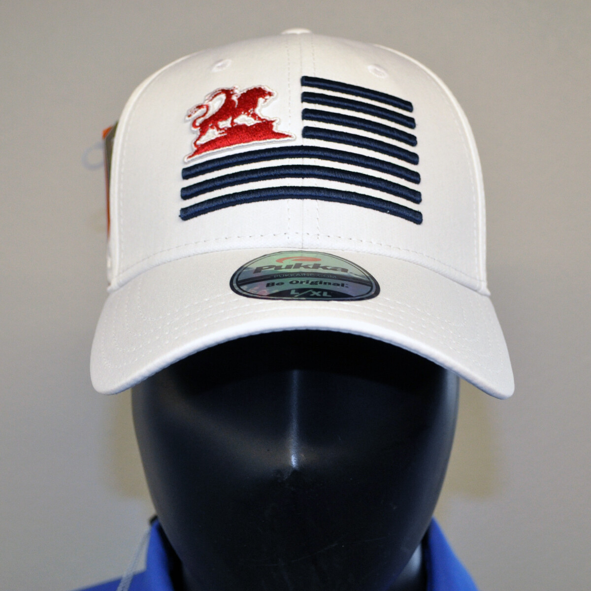Men's Golf Hat - White/Red/Blue