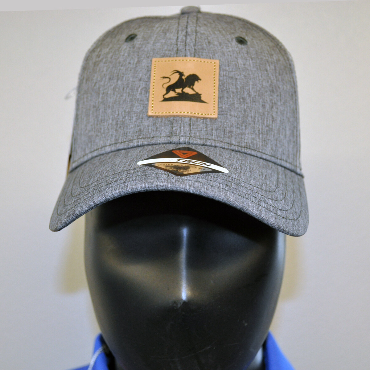 Men's Golf Hat - OSFA Heather Gray/Leather Patch