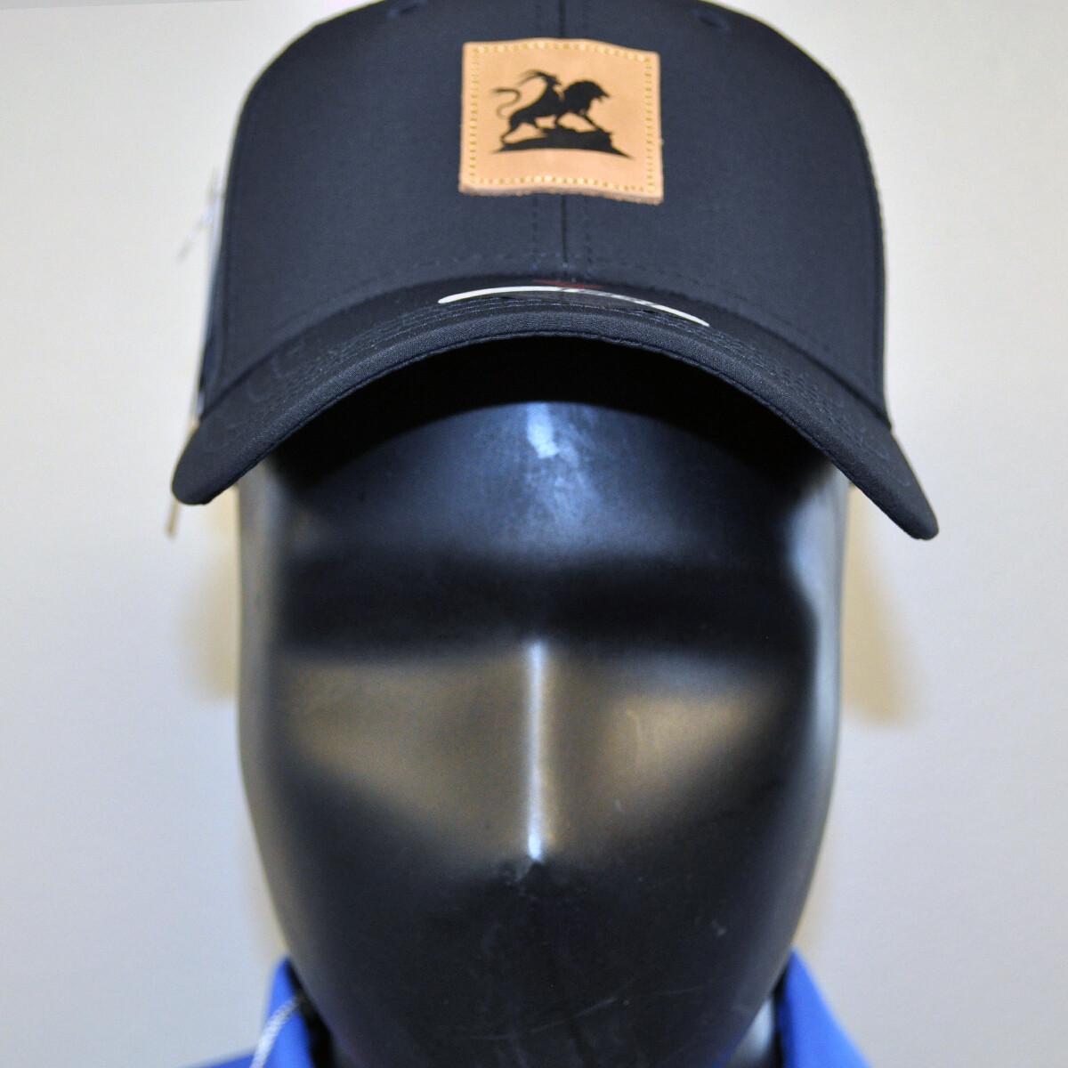 Men's Golf Hat - OSFA Black/Leather Patch