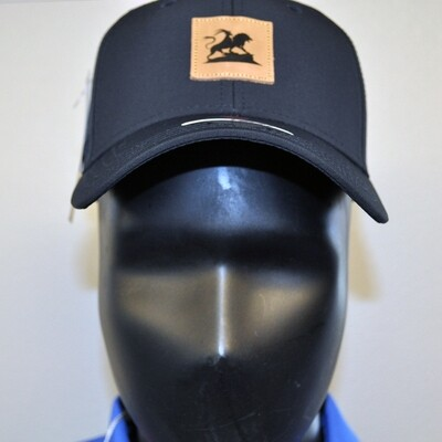 Men's Golf Hat - OSFA Black/Leather Patch