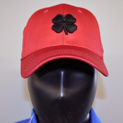 Men's Golf Hat- Live Lucky hat - Red/Black