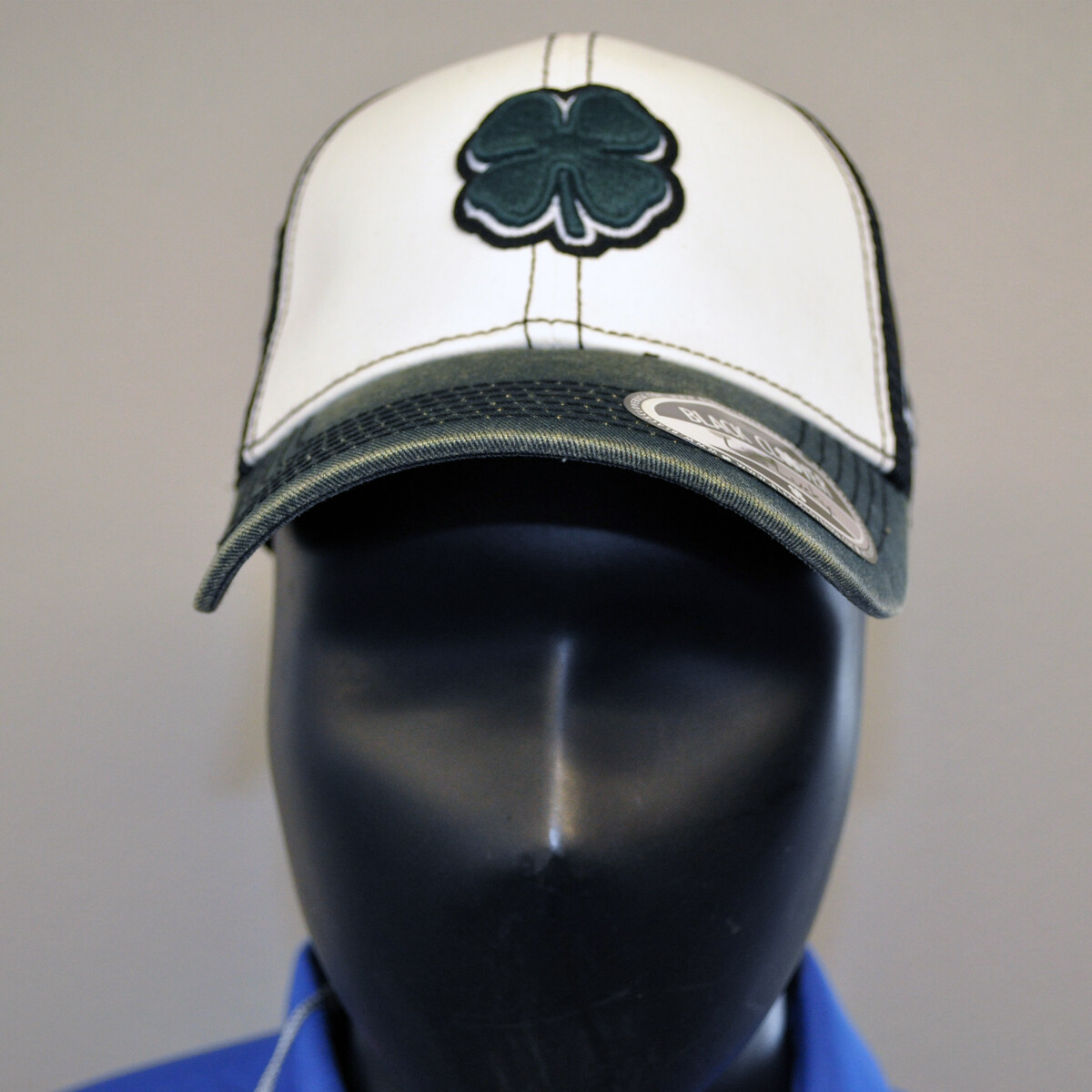 Men's Golf Hat- Live Lucky hat - OSFA Black/White/Green