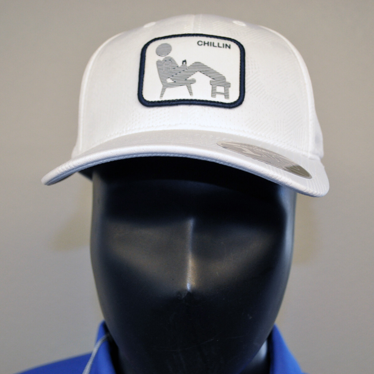 Men's Golf Hat - Chillin Hat - White/Black