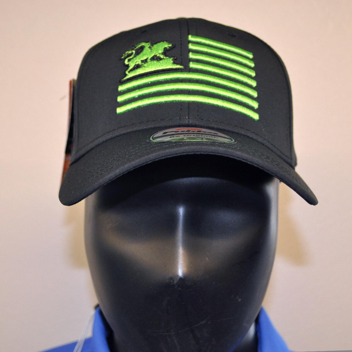 Men's Golf Hat - Black/Green