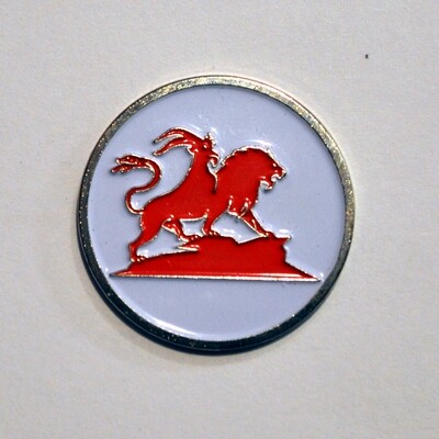 Ball Marker - Red/White Chimera