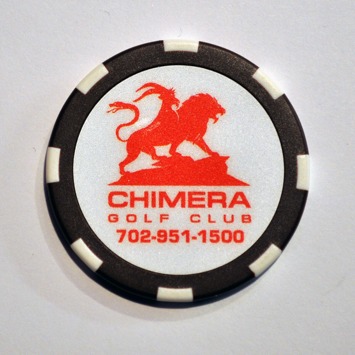 Poker Chip - Chimera - Brown/White