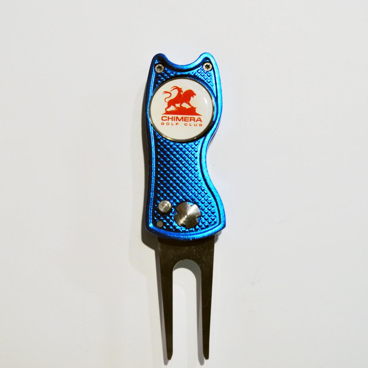 Switchblade Divot Tool - American Golf Gear - Blue