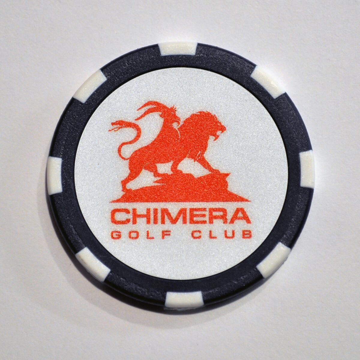 Poker Chip - Chimera - Navy/White