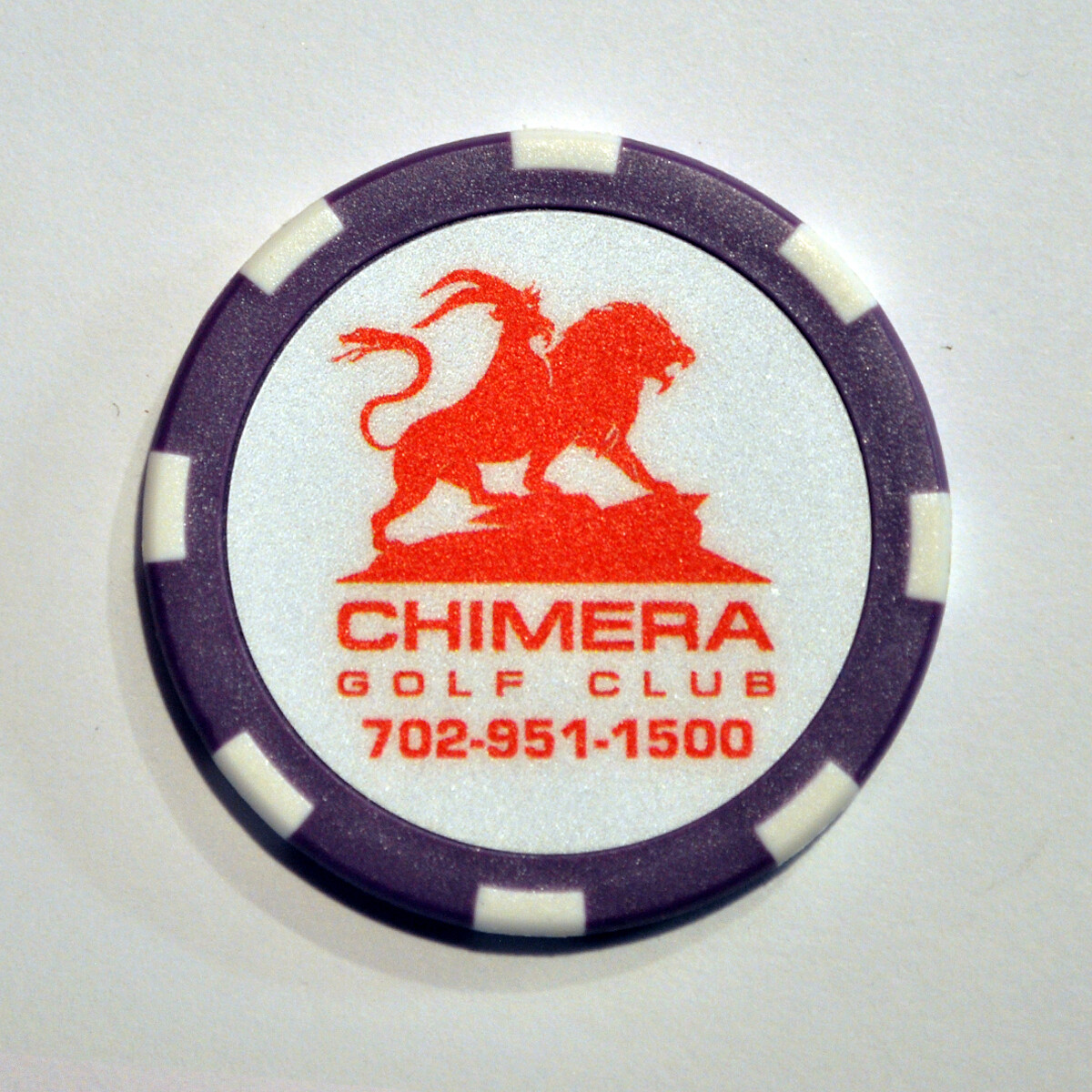 Poker Chip - Chimera - Purple/White