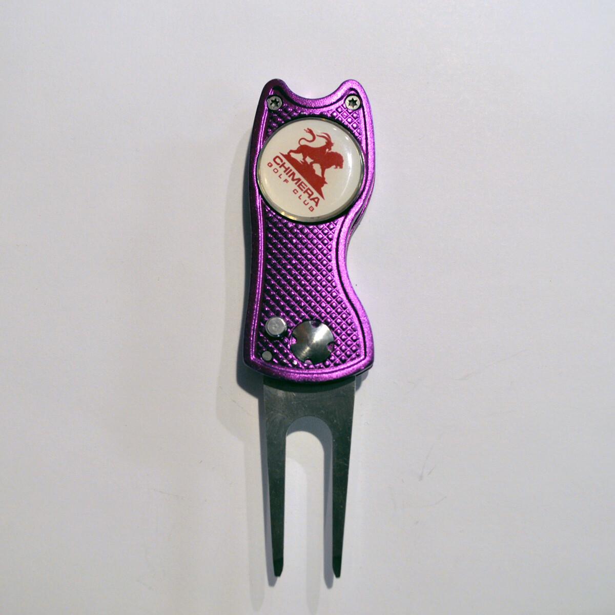 Switchblade Divot Tool - American Golf Gear - Purple