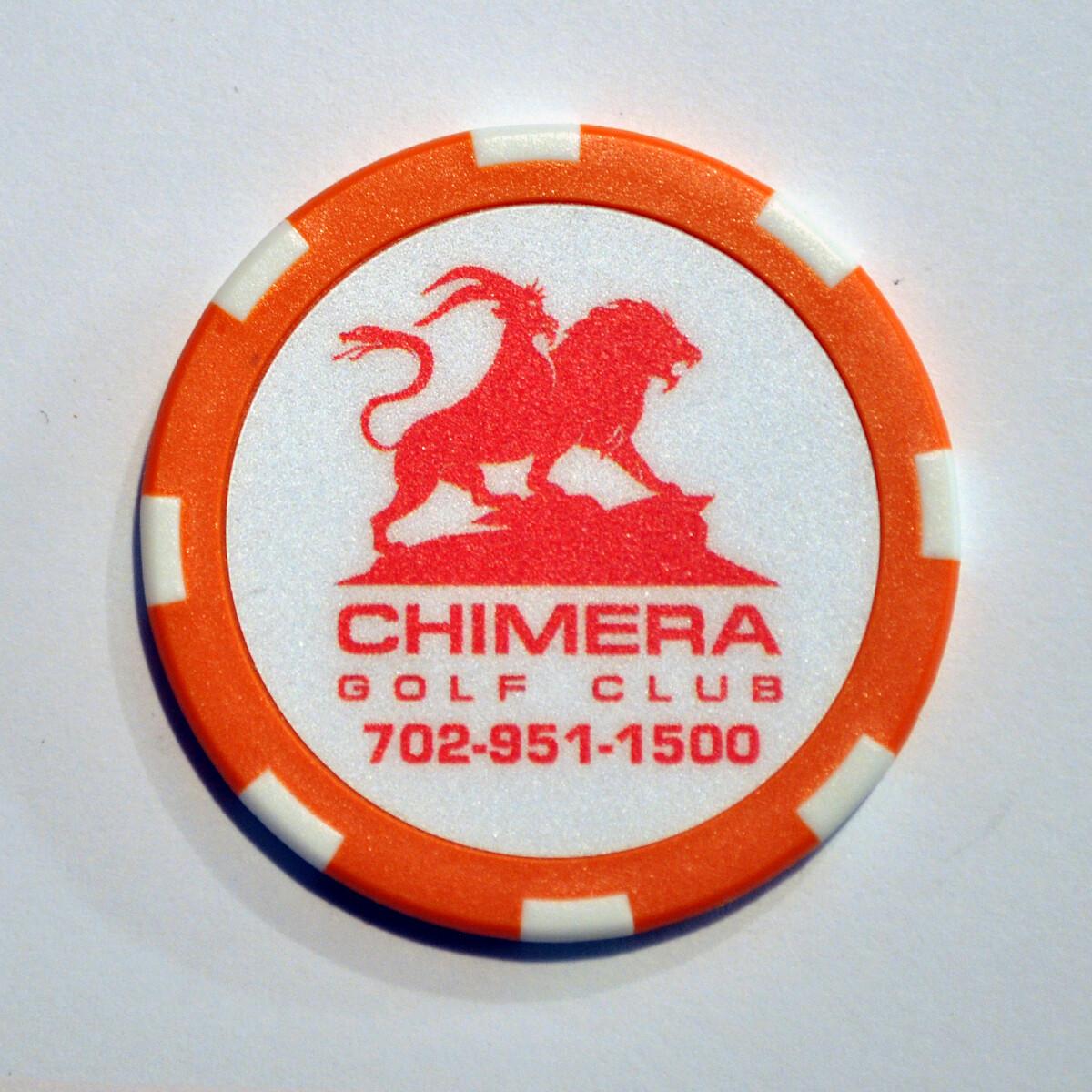 Poker Chip - Chimera - Orange/White