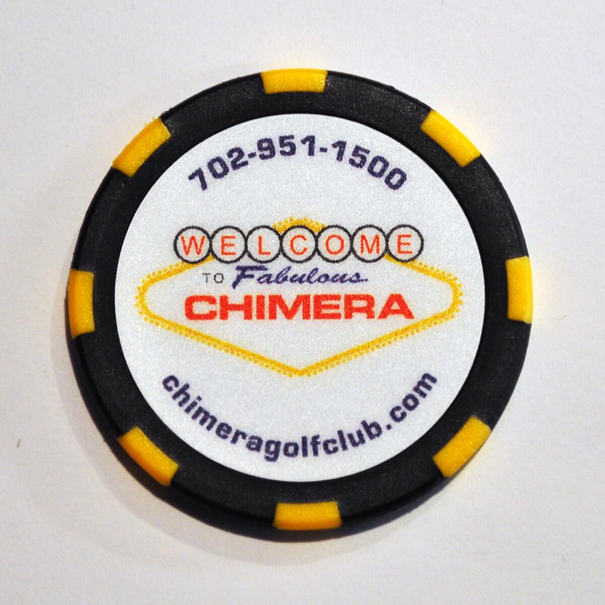 Poker Chip - Chimera - Black/Yellow