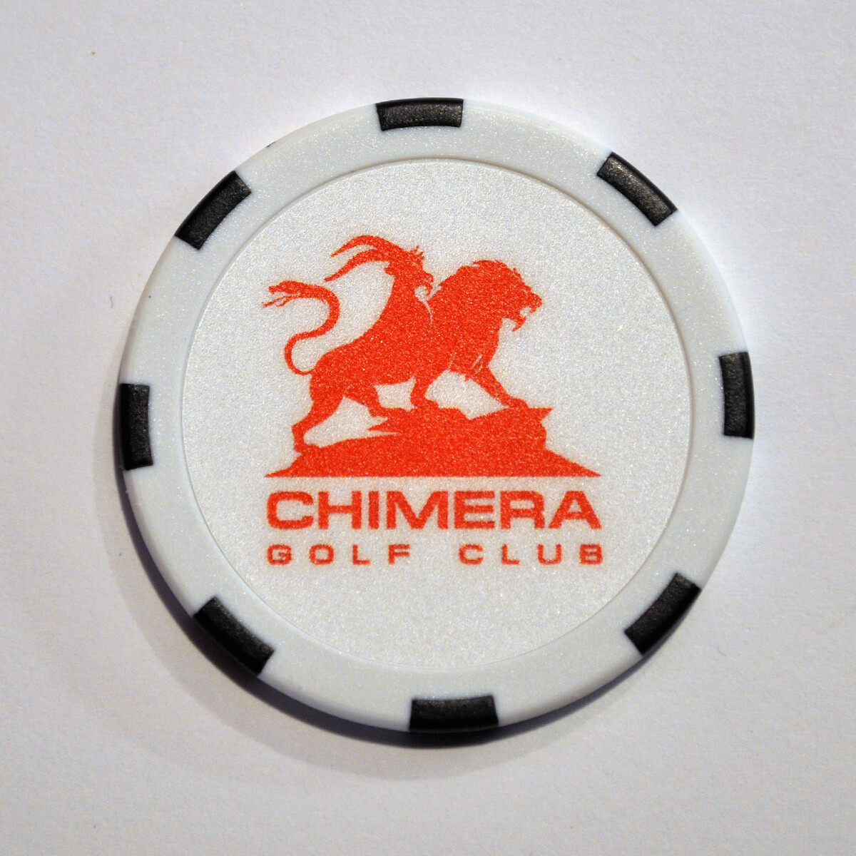 Poker Chip - Chimera - White/Black