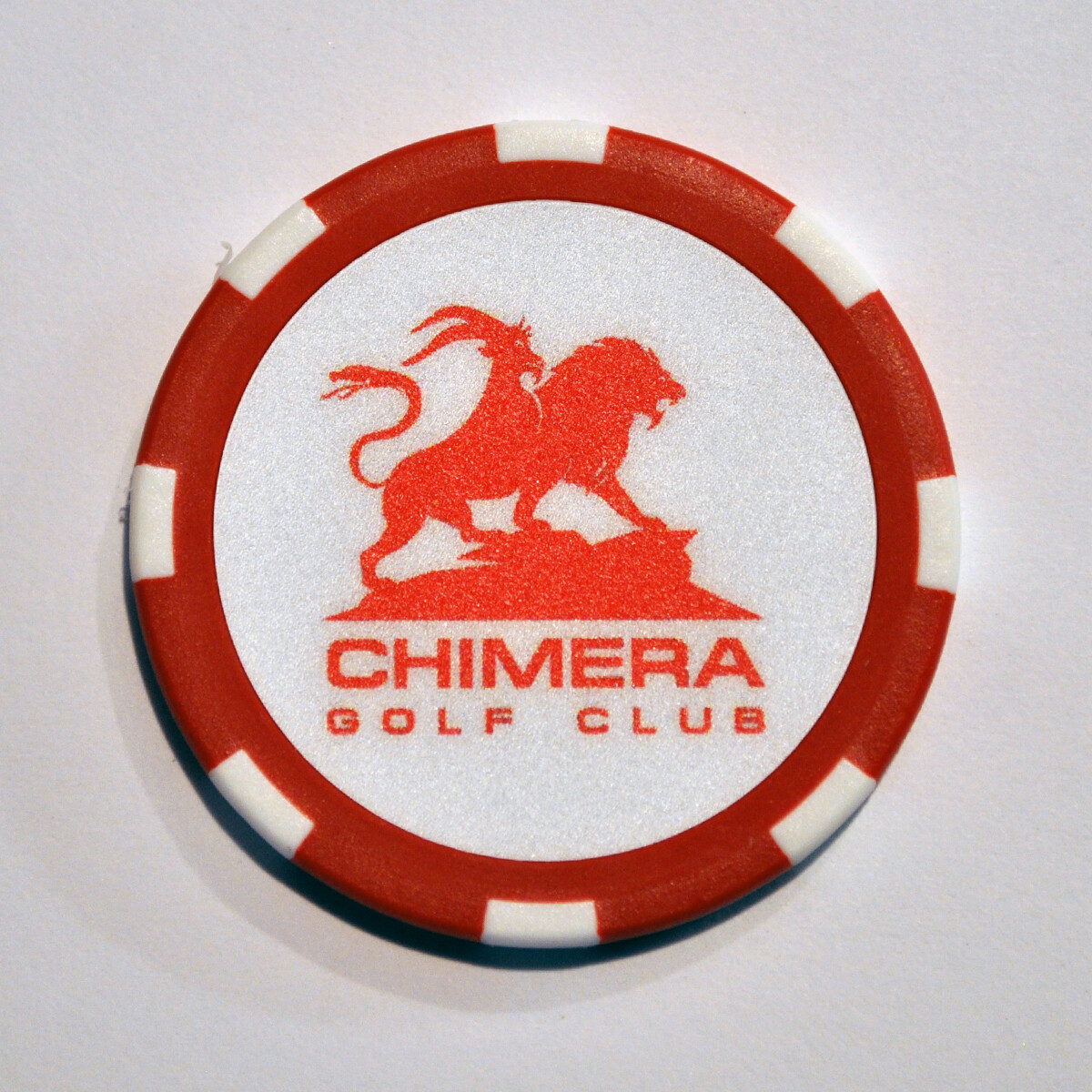 Poker Chip - Chimera - Red/White