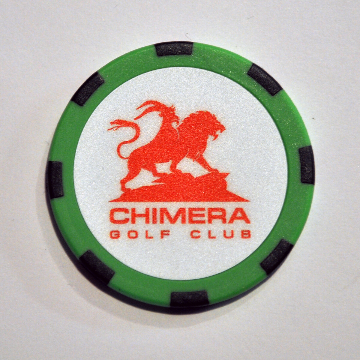 Poker Chip - Chimera - Green/Black