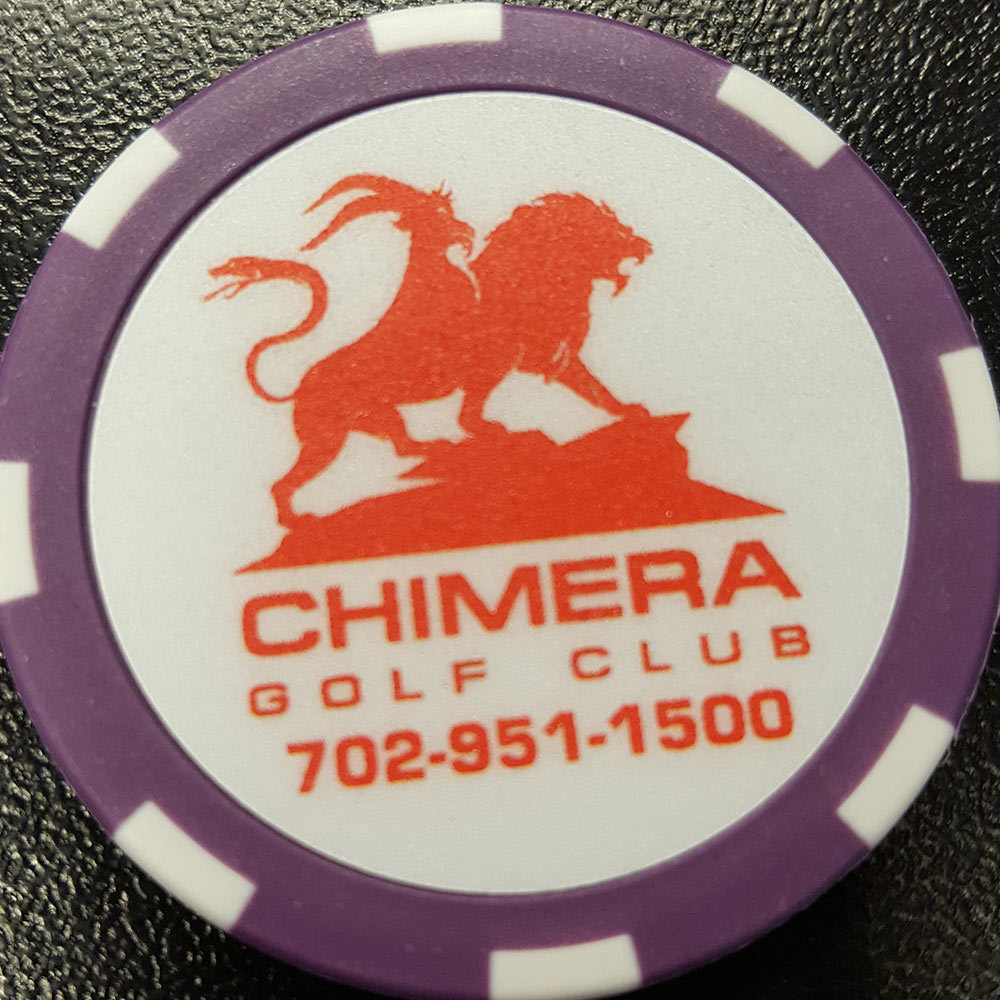 Chimera Poker Chip Golf Ball Marker - Purple and White